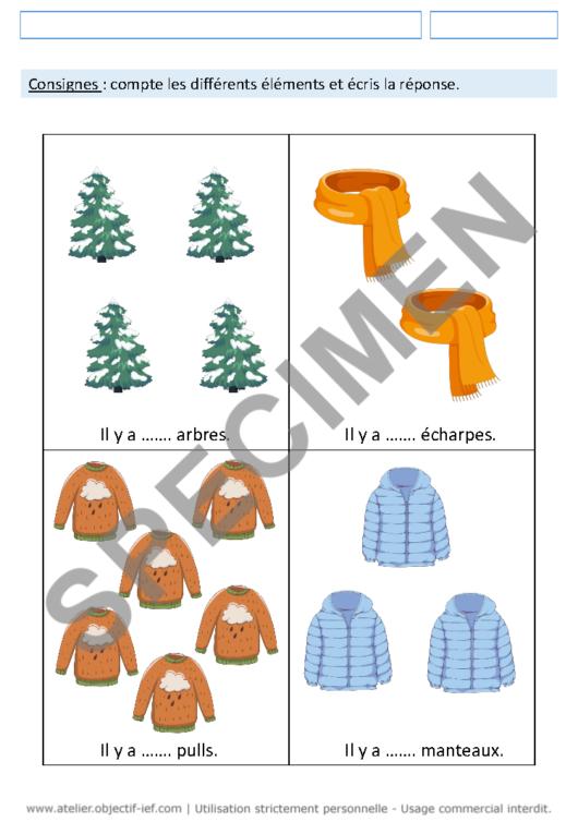 séquence thématique hiver thème ief grande section GS fichiers