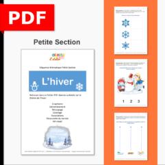 séquence thématique hiver thème ief petite section PS fichiers