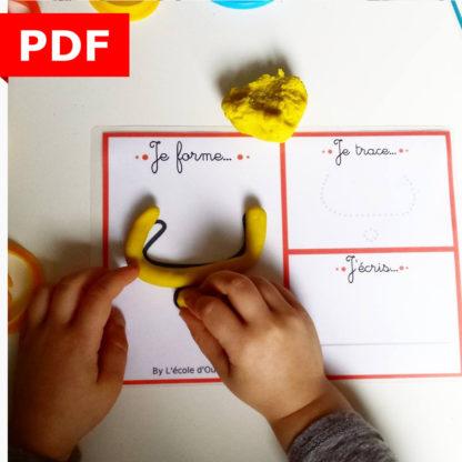 langue arabe apprendre l'arabe enfant maternelle fichier pdf je forme je trace j'écris IEF