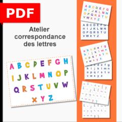 correspondance lettres alphabet cursif cursive script capitale atelier ief PS MS GS