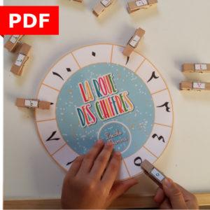 roue des chiffres arabes langue arabe 2 ans maternelle ief