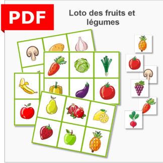 Loto fruits et légumes objectif ief instruction en famille