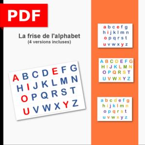 affichage alphabet voyelles consonne frise maternelle primaire ief instruction en famille objectif ief