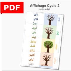 mois et saison arabe affichage