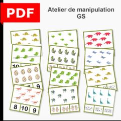 cartes à pince dénombrement dinosaures instruction en famille ief maternelle primaire maths grande section GS