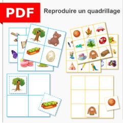 reproduction de quadrillage ief école à la maison maternelle moyenne section grande section maths instruction en famille