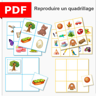 reproduction de quadrillage ief école à la maison maternelle moyenne section grande section maths instruction en famille