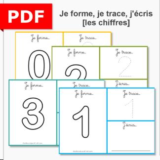 je forme, je trace, j'écris les chiffres graphisme écriture motricité fine pâte à modeler instruction en famille ief