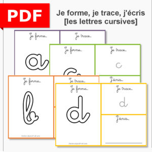 je forme, je trace, j'écris les lettres cursives graphisme écriture motricité fine pâte à modeler instruction en famille ief