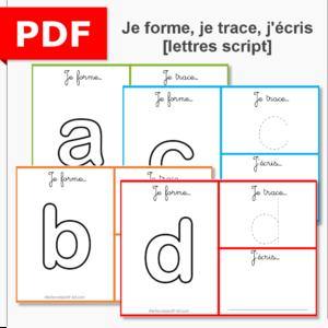 je forme, je trace, j'écris les lettres scriptme écriture motricité fine pâte à modeler instruction en famille ief